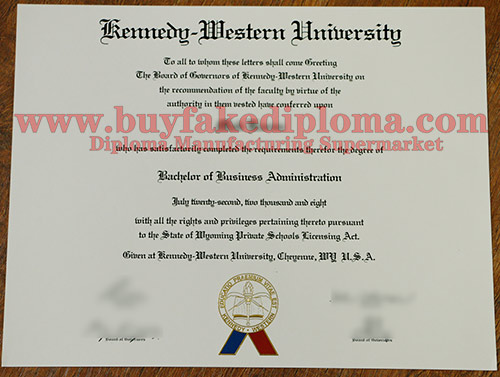 Warren National University diploma certificate